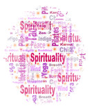 Oval Shaped Spirituality Tag or Word Cloud