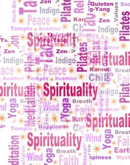 Rectangle Spiritual Tag or Word Cloud