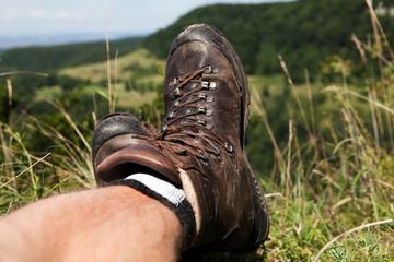 Wanderschuhe machen Pause
