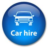 CAR HIRE Web Button (rental vehicle insurance service transport) poster