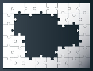 Puzzle vector background with copy space