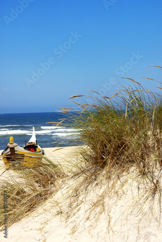 Boat on the beach at Portugal.