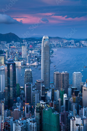 Plexiglas Hong-Kong Hongkong Sonnenuntergang
