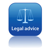 LEGAL ADVICE Web Button (scales of justice trial law tribunal) poster