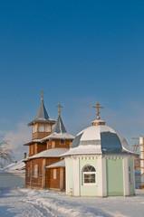 Деревянная церковь и часовня. Спасо-Казанский монастырь