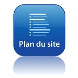 Bouton Web PLAN DU SITE (web internet recherche catégories bleu)