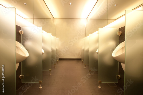 Modern mens club bathroom