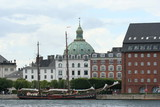 view of Marble Church and Amalienborg in Copenhagen