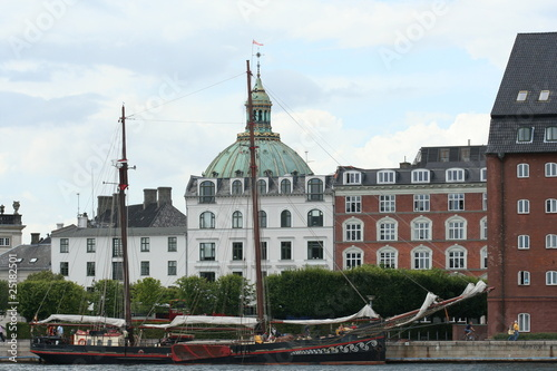 View of Marbel church and Amalienborg in Copenhagen