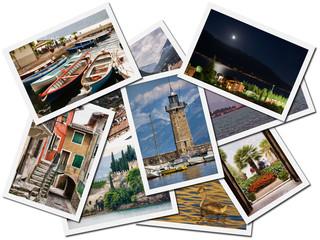 Collage of photos of Lake Garda villages