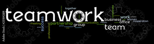 Business teamwork banner