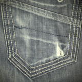 shabby jeans pocket with tear poster