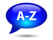 A-Z Speech Bubble Icon (web button dictionary search alphabet)