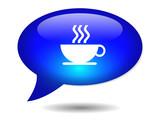 COFFEE CUP Speech Bubble Icon (web button break caffeine addict) poster