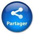 Bouton Web PARTAGER (internet web réseau social communauté bleu)