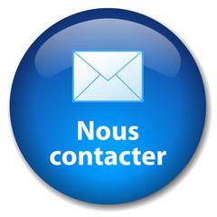Bouton Web NOUS CONTACTER (service clients e-mail contactez-nous