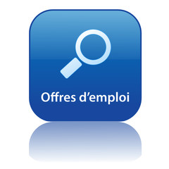 Bouton Web OFFRES D'EMPLOI (recherche recrutement job travail)