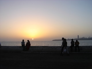 Mumbai bay sunset