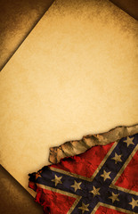 Confederate flag and document