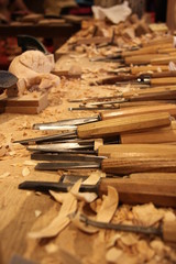 atelier de sculteur bois