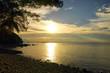 Coast of peninsula Santubong. Sunset. Borneo.