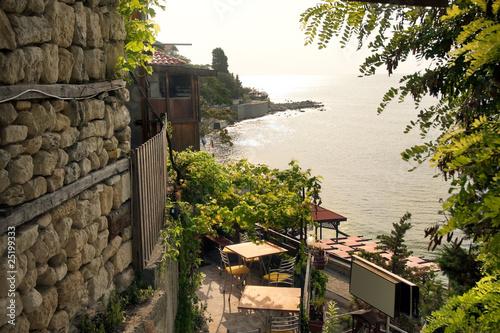 Leinwandbild Motiv Panoramic view from Nessebar, Bulgaria