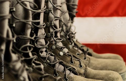 Leinwandbild Motiv Combat Boots