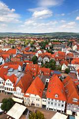 Blick auf Hameln von der Marktkirche, Niedersachsen/Deutschland