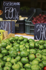 Organic Green peppers in the farmer's market