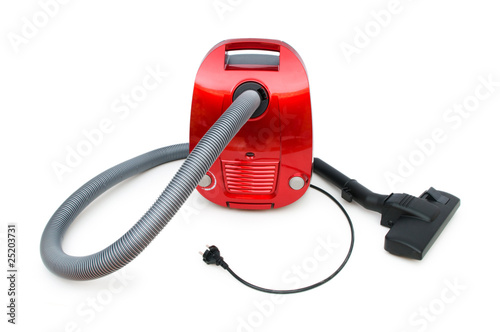 Vacuum cleaner isolated on the white background