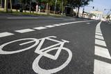 Fototapety Bicycle road