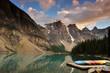 Moraine Lake Sunset, Bank National Park