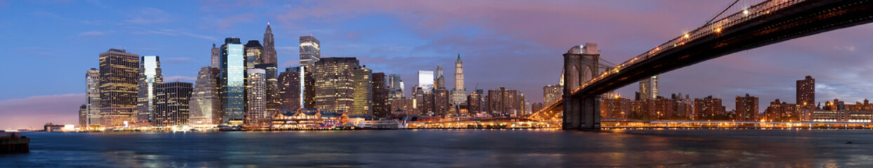 Manhattan over the river early morning