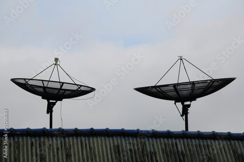 Twin satellite dish