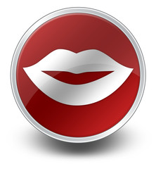 "Glossy Icon ""Mouth / Lips Symbol"""