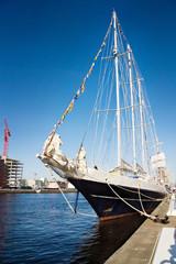 Irish tall ship in Dublin port