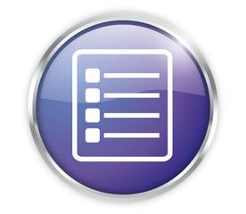 Checklist Button Modern Blau