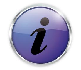Information Button Blau Exclusiv