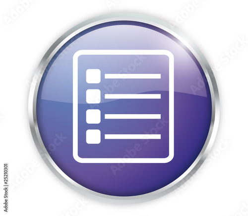 Checklist Button Modern Blau