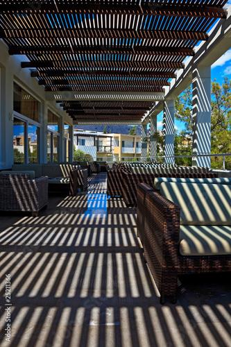 beautiful terrace of modern hotel