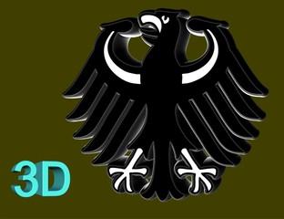 3D-Bundesadler VEKTOR