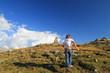 Donna in cima al passo del Bernina II