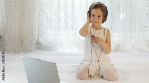 Cute girl with headphones