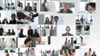 animation showing businesspeople footage