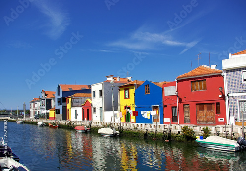 Landscape of Aveiro, Portugal.