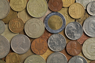 Old coins of the different countries