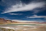 salt lake Salar de Tara, desert Atacama, Chile poster