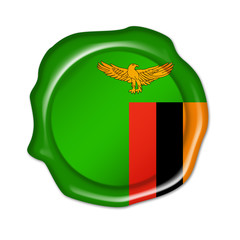 zambia button, seal, stamp, blank flag