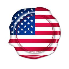 usa button, blank flag, seal, stamp,