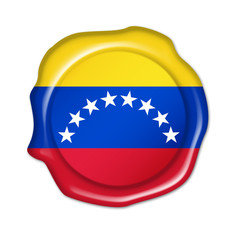 venezuela button, seal, stamp, blank flag